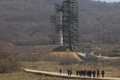 The Sohae Satellite Launching Station was the site of North Korea's first successful space launch in 2012. The North now says it will dismantle the facility. David Guttenfelder/AP