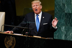President Trump speaks to the United Nations General Assembly, Tuesday, Sept. 19,