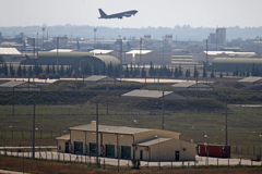 A Turkish military aircraft takes off from İncirlik airbase, where the US has about 50 nuclear bombs. Photograph: Anadolu Agency via Getty Images