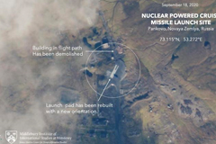 Satellite images of nuclear powered cruise missile launch site