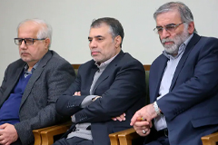Mohsen Fakhrizadeh, right, was a key figure in Iran's nuclear weapons program. (West Asia News Agency/Reuters)