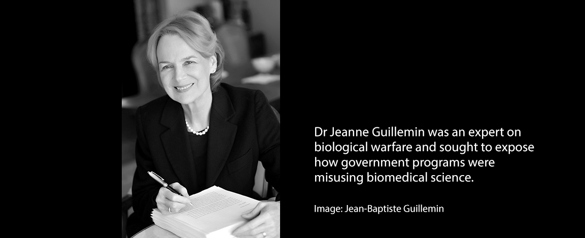 Dr. Jeanne Guillemin was an expert on biological warfare and sought to expose how government programs were misusing biomedical science.Credit...Jean-Baptiste Guillemin