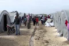 A camp near the Syrian border at Suruç, Turkey.