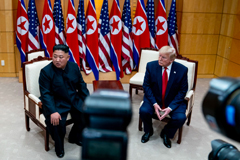 President Trump and Kim Jong-un, the leader of North Korea, during a meeting last year on the South Korean side of the Demilitarized Zone.Credit...Erin Schaff/The New York Times