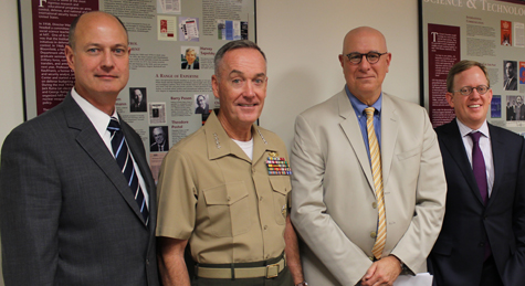 (L-R) Paul Heer, General Dunford, Richard Samuels, and Taylor Fravel