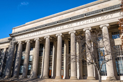 MIT building with columns