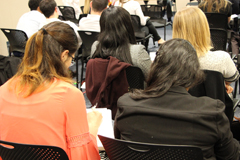 students attending a lecture/event
