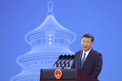 Chinese President Xi Jinping spoke Tuesday during the 86th Interpol General Assembly in Beijing.