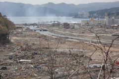 View of Minami-Sanriku after the tsunami