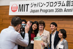 Pat Gercik with MIT Japan students