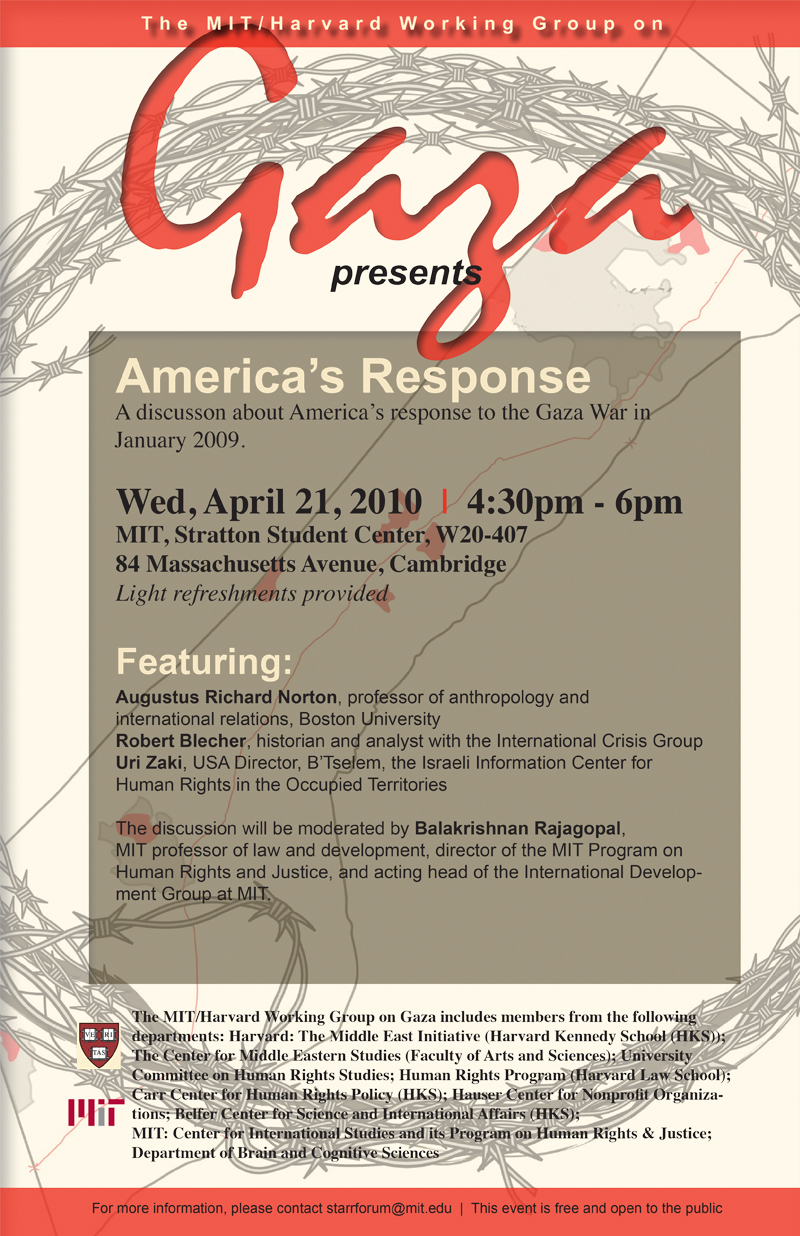 MIT/Harvard Gaza series: America's Reponse