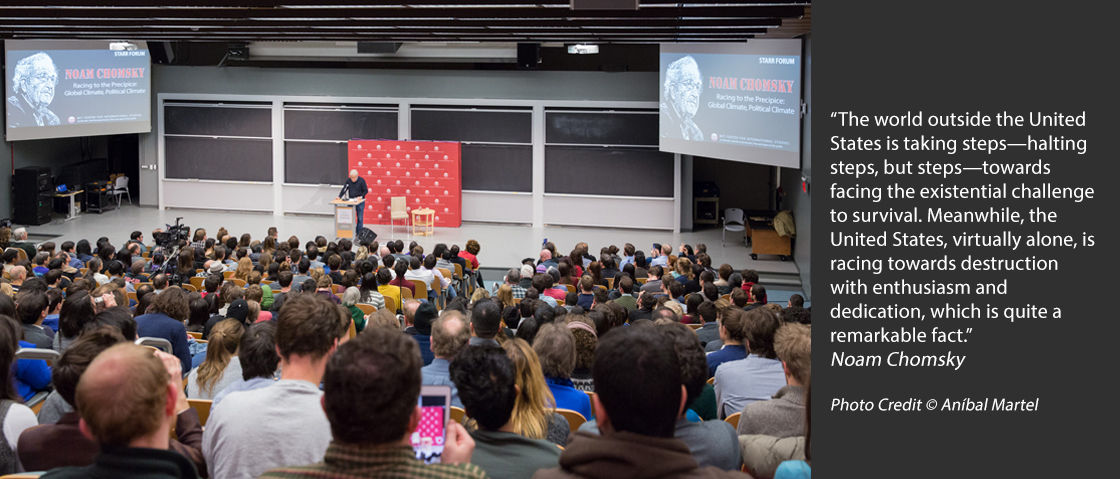 Noam Chomsky speaking at MIT