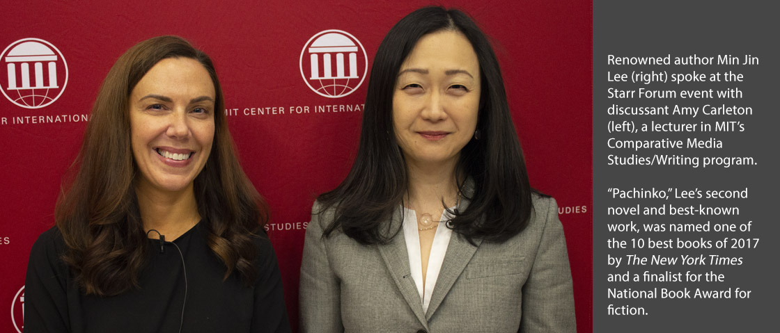 Amy Carleton with Min Jin Lee