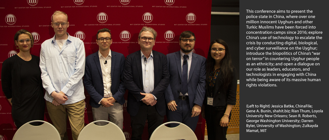 (Left to Right) Jessica Batke, ChinaFile;  Gene A. Bunin, shahit.biz; Rian Thum, Loyola University New Orleans; Sean R. Roberts, George Washington University; Darren Byler, University of Washington; Zulkayda Mamat, MIT
