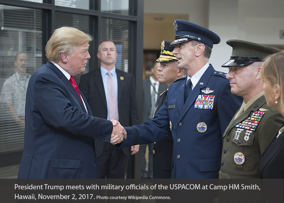 President Trump meeting with US military leaders