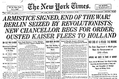 NYT WWI Ends