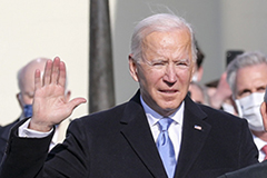 President-elect Biden taking the oath of president