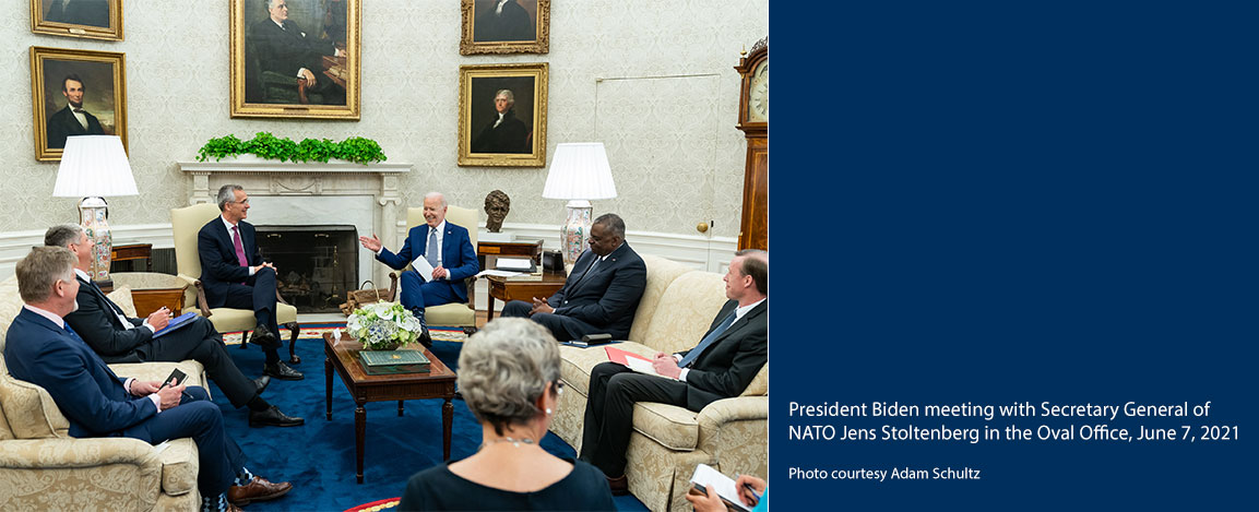 Biden meeting with Secretary General of NATO Jens Stoltenberg in the Oval Office, June 7, 2021